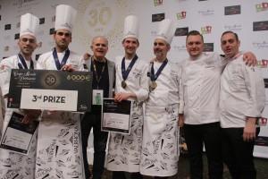 L'équipe d'Italie, 3ème de la 30ème Coupe du Monde de Pâtisserie, Eurexpo, Lyon, 28 janvier 2018